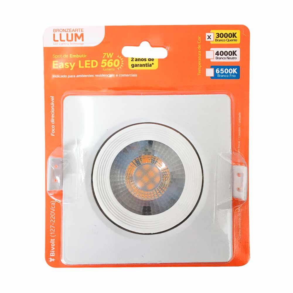 Spot led 7w 3000k quadrado - Llum