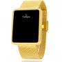 Relógio Champion Feminino Digital Dourado com Colar e Brincos CH40080J