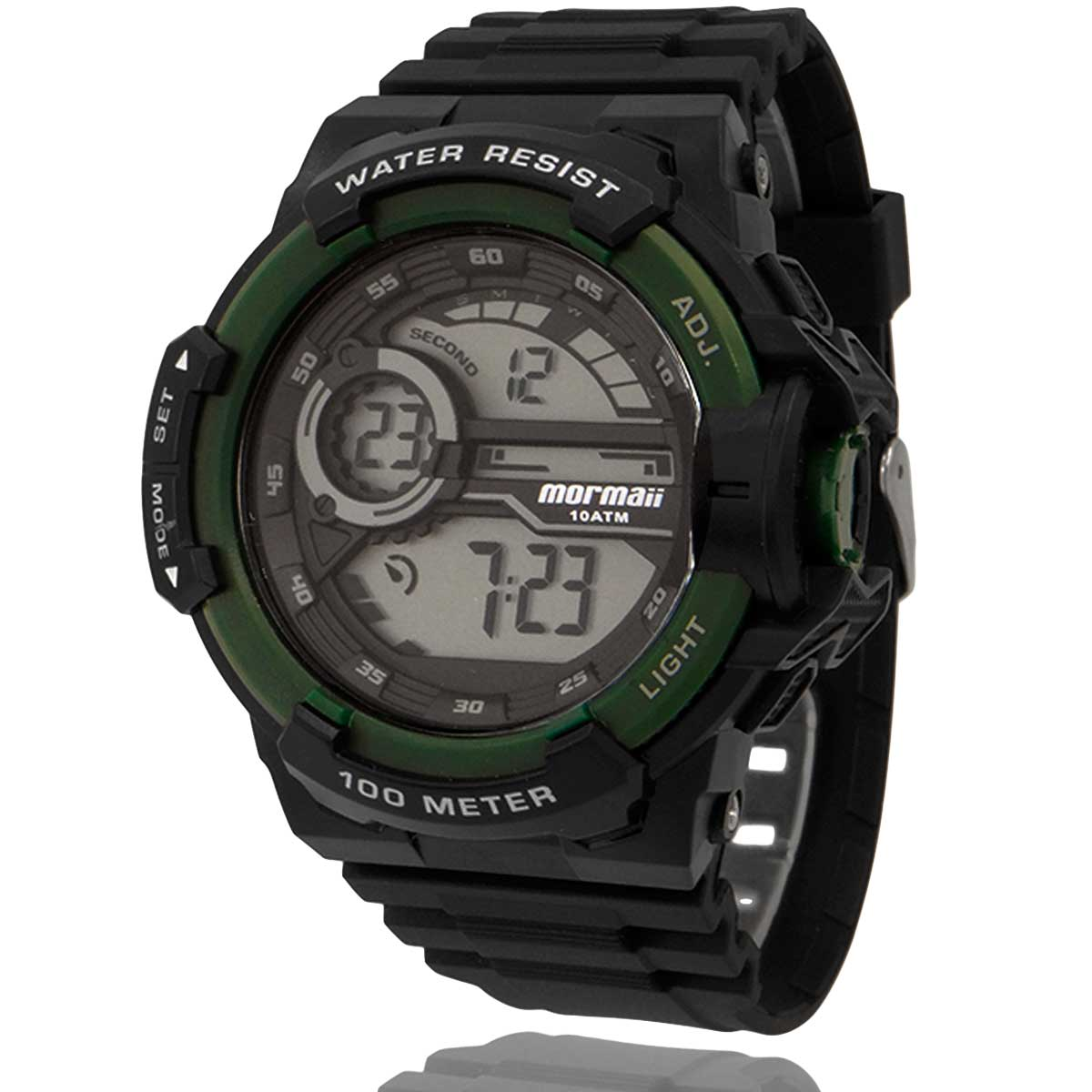 Relógio Digital Masculino Mormaii Preto com Carteira Lebrave Brinde MO3660AD8V