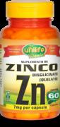 """ZINCO QUELATO """"ZN"""" 500 MG - 60 CAPS"""