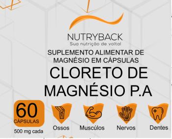 NUTRYBACK CLORETO DE MAGNESIO P.A 500MG 60CPS