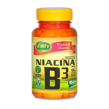 UNI VITAMINA B3 - NIACINA 500 MG - 60 CAPS
