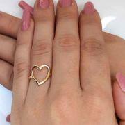 Anel Coração banhado a ouro