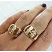Anel Menino(a) ou Meninos(as) Detalhes em Rhodium em Banho de Ouro