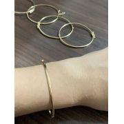 Bracelete Liso em Banho de Ouro F. 13.6