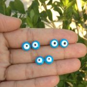 Brinco olho grego Azul claro Banhado a Ouro