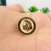 Broche Personalizado C/ Logo da Empresa Ou Nome Banhado a Ouro