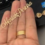 Broche Personalizado Nome Jaleco Banhado a Ouro