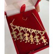 Gargantilha Canguinha Coração Personalizada Banhada a Ouro