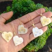 Gargantilha coração 3 filhos A Escolher Banhado A Ouro
