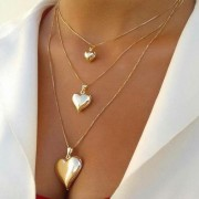 Gargantilha Coração Banhada a Ouro (Tamanhos a Escolher)