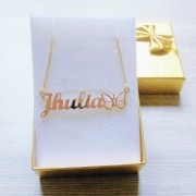 Gargantilha Personalizada com Símbolo Banhada a ouro