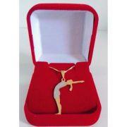 Pingente Yoga Corrente Banhada A Ouro 18k