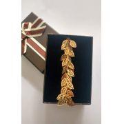 Pulseira Folhas em Banho de Ouro F.13.5