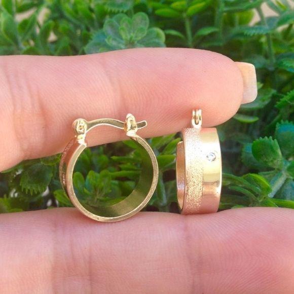 Brinco Argola 6mm Banhado A Ouro