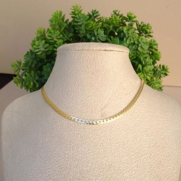 Choker feminina grossa luxo banhada a ouro