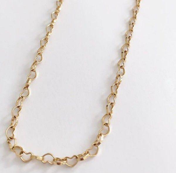 Colar Corações Tiffany em Banho de Ouro