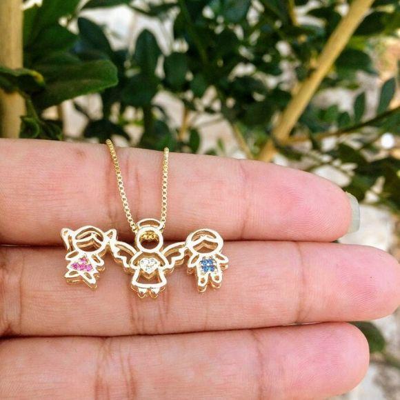 Corrente Menina, Anjo, Menino Banhado a Ouro(Opções)