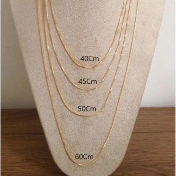 Corrente Veneziana 40cm/45cm/50cm e 60cm  em Banho de Ouro