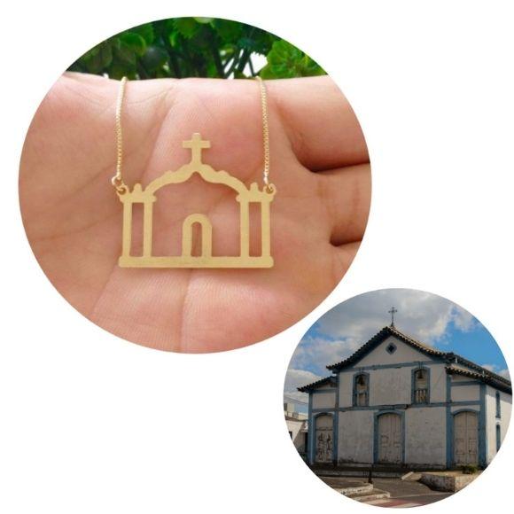 Gargantilha Igreja de São Sebastião Banhada a Ouro