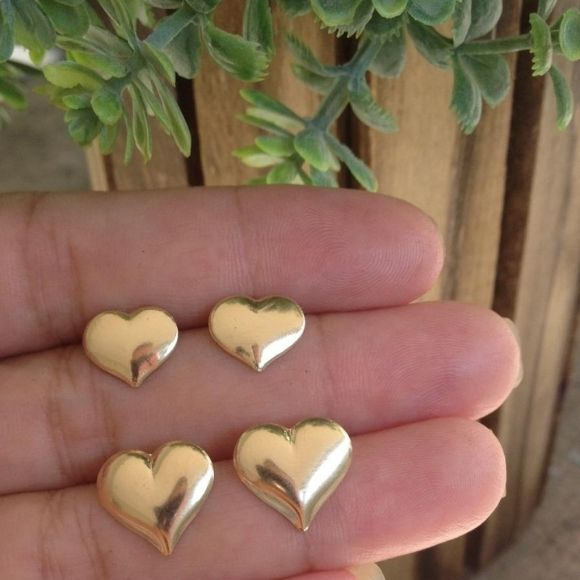 Kit Brinco Coração Banhado a Ouro