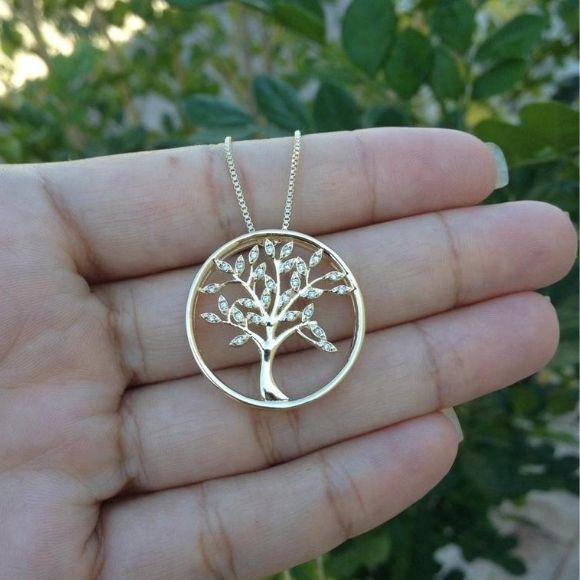 Mandala Dupla Árvore da Vida, Cravejada Banho de Ouro