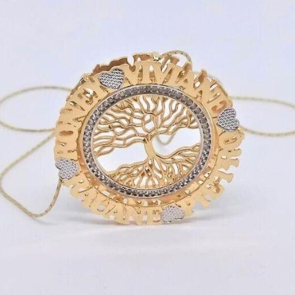 Mandala Personalizada com Arvore da Vida, Lateral Cravejada