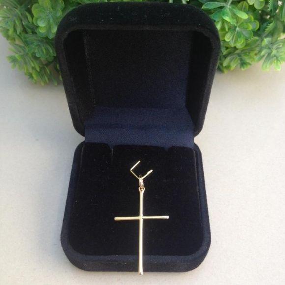 Pingente Cruz crucifixo banhado a ouro