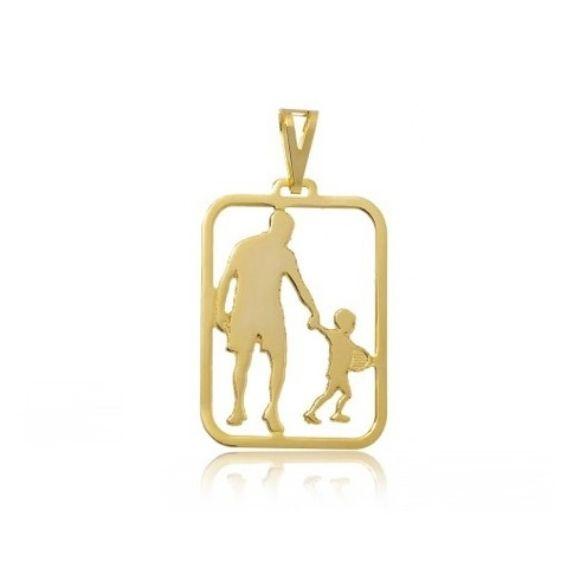 Pingente Masculino Pai e Filho Banhado a Ouro 18k
