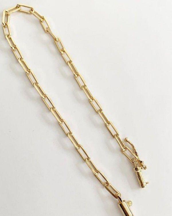 Pulseira Masculina Cartier em Banho de Ouro F. 11.7