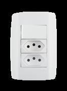 Interruptor Simples 10A 250V + 2 Tomadas 10A - 80203