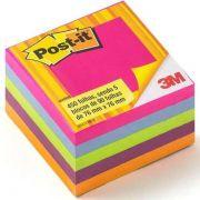 Bloco Adesivo Post-it Cubo Tropical 654 Com 450 Folhas 3m