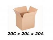 Caixa Papelão Correio Sedex Pac 20 X 20 X 20 - 10 caixas