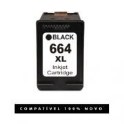 Cartucho 664XL 664 Preto compatível para HP 2515 2516 2546
