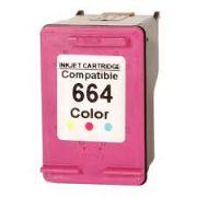 Cartucho HP 664XL colorido compatível 3636 2136 1115 4676