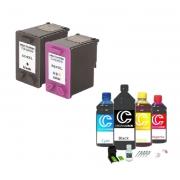 Kit Cartucho 664xl Black/Color+ Kit Recarga Cartucho HP