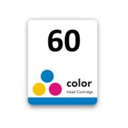 Etiqueta para cartucho HP 60 Colorido Pacote c/ 50Un