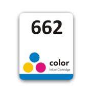 Etiqueta para cartucho HP 662 Colorido - PCTE C/ 50UN