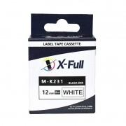 FITA P/ ROTULADORA (RIBBON) 12MM*8M BLACK/WHITE COMP. C/ XF M-K231