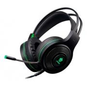 Fone De Ouvido Gamer Evolut Têmis Eg301 Preto E Verde