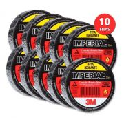 Kit 10 Fitas Isolante 18mm X 20m Profissional Scotch 33+ 3m
