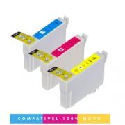 Kit 3 Cartuchos 296 Compativel Xp201 Xp214 2962 2963 2964