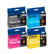 Kit 4 Cartucho Original Epson 296 Xp431 Xp441 Xp231 Xp241