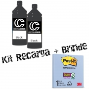 Kit Tinta Recarga Cartucho Impressora + Brinde