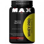 Whey Protein 1kg Sabor Morango- Max Titanium
