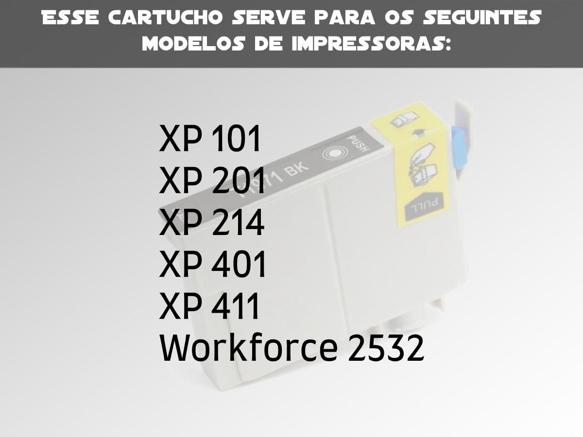 1 Cartucho Epson 197 Compatível para Xp204 214 Xp214