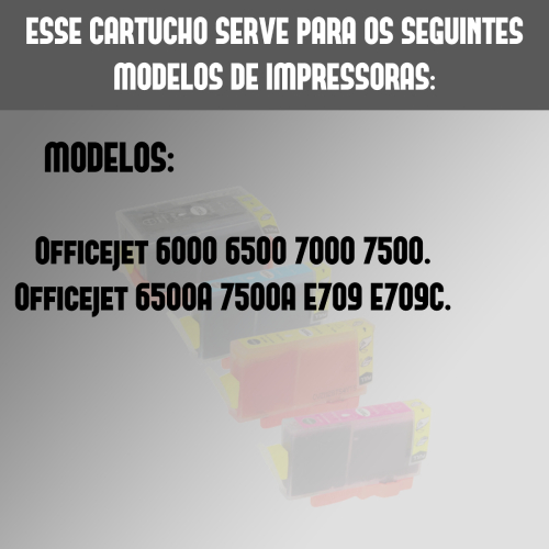 Kit 4 Cartuchos 920xl 920 Compatíveis Pro6000 6500 7000