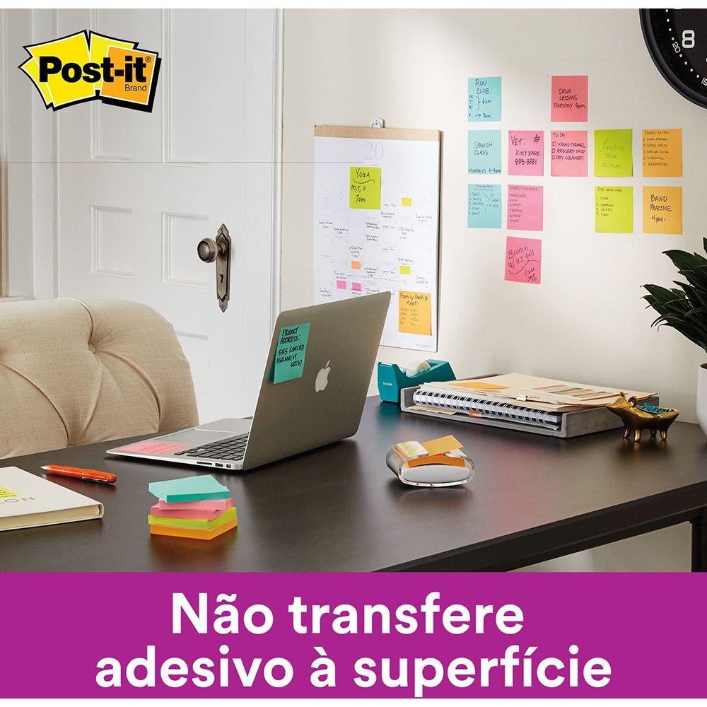 Bloco Post-it Kit C/ 6 Blocos Coloridos 76x76