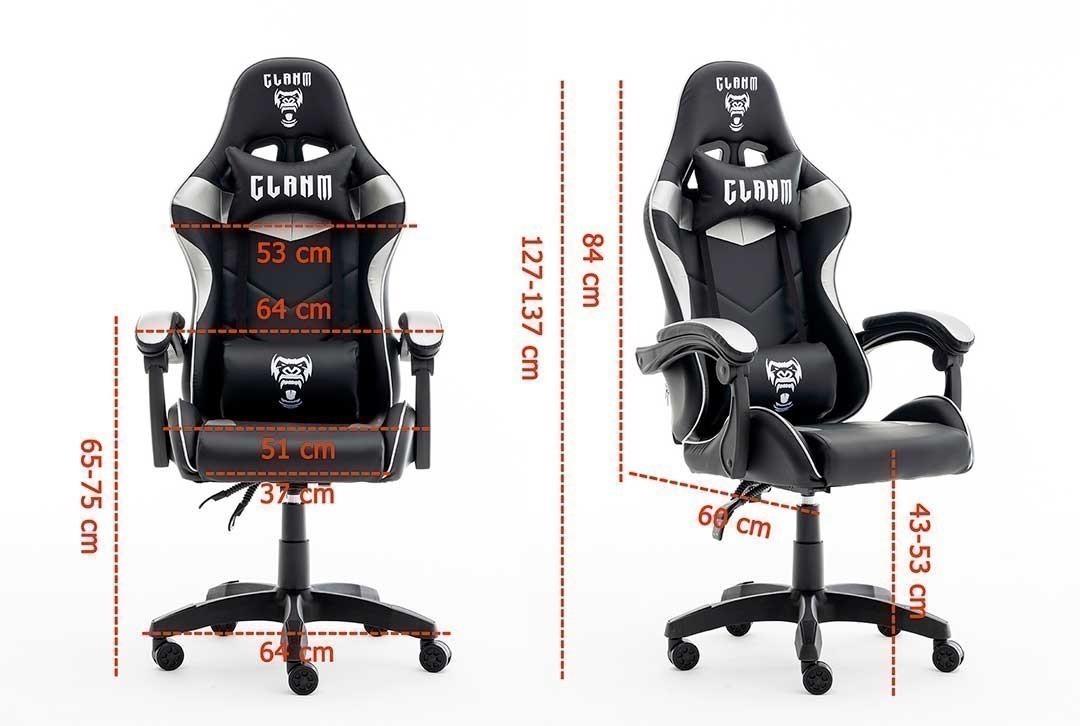 Cadeira Gamer Mount Black/gray Clanm