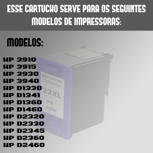 Cartucho 22xl 22 28 57  Para HP F4180 F4140 D2445